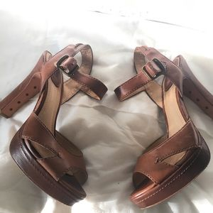 Loved FRYE ANKLE STRAPPED HEELS